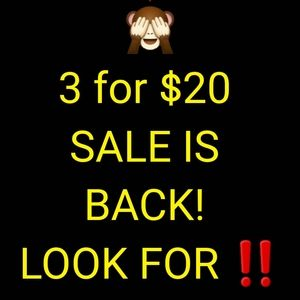 ‼️3 FOR $20 IS BACK!